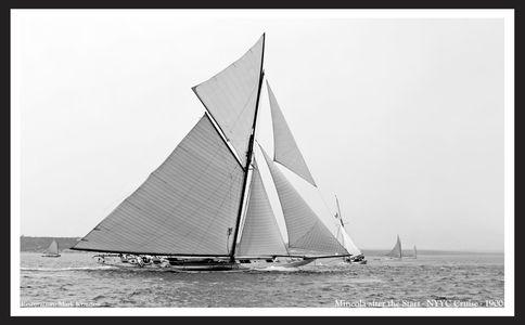 Mineola - 1900 - Vintage Sailing Restoration Art Print