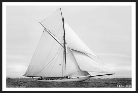 America's Cup - Jubilee 1893 - Vintage Sailing Restored Art Prints