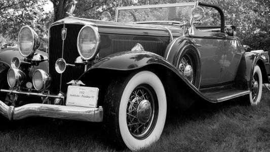 Studebaker1932 antique classic autombile black & white photography art print