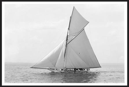Vintage Restored Sailing Art Print - Sloop Beatrix 1891