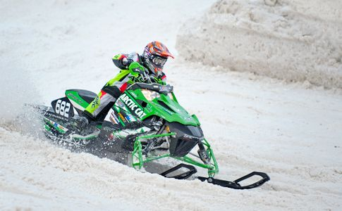 Snowcross snowmobile racing in NH