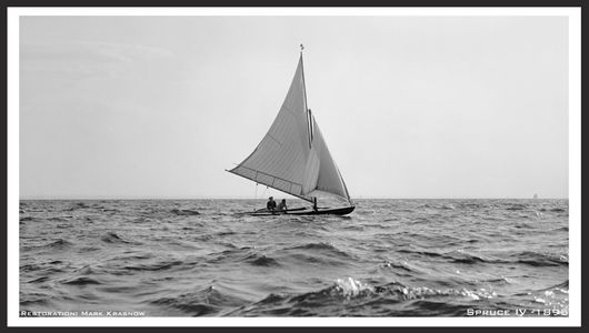 Vintage Sailboats - Spruce IV - 1895 - Photo Restoration Art Prints