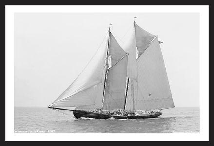 Schooner Jessie Costa -1907 - Vintage Sailboat Art Print
