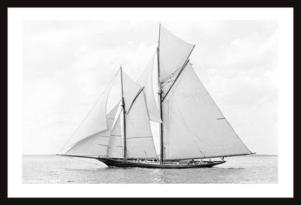 Vintage Sailboats - America's Cup art print restoration