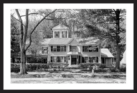 Home of Nathaniel Hawthorne, Concord 1890's