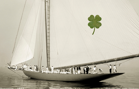 Shamrock 1899 - America's Cup - Vintage Restored Sailing Art Print