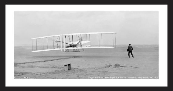 Kitty Hawk, NC, Wright Brothers First Flight - 1903