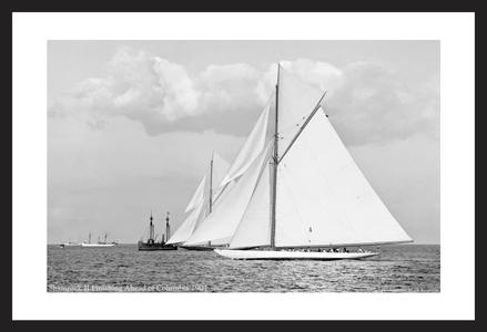Vintage America's Cup - Shamrock II and Columbia -1901  Historic Sailing art print