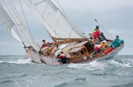 The Classic Yacht The Blue Peter Racing at the Vineyard Cup 2016