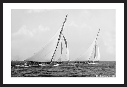 The Last Start - 1899  - America's Cup  sailing photography art print restoration