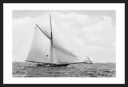 Liris - 1891 - Vintage sailing photography art print restoration