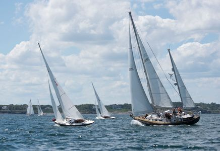 After the Start - Corinthian Classic Regatta - Marblehead, MA