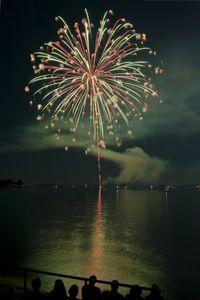 Fireworks art print for interior design