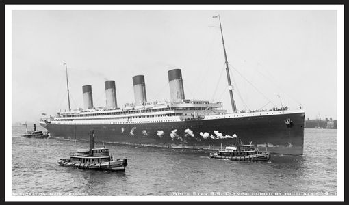 S.S. Olympic White Star Line 1911 - art print for home and office
