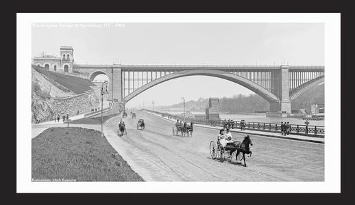 Washington Bridge and Speedway, NY 1901