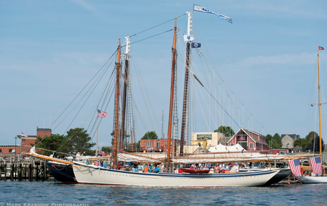 Schooner American Eagle of  Rockland, Maine, in Gloucester, MA