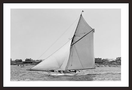 Vintage Sailboat restoration art print - Saracen Late 1800's