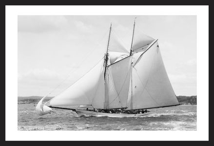 Sachem -1894  - Vintage sailing photography art print restoration
