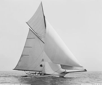 Mildred 1891 - Vintage Restored Sailing Art Print