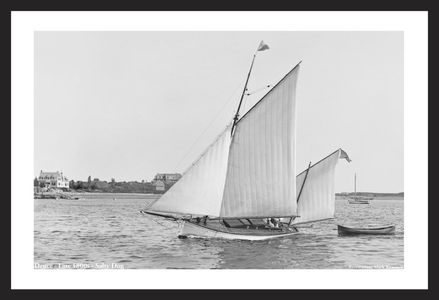 Vintage Sailing  - Cat Yawl Deuce - Late 1800s - Vintage Sailboats for Home & Office Interiors