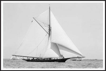 Katrina 1894 - Vintage Restored Sailing Art Print