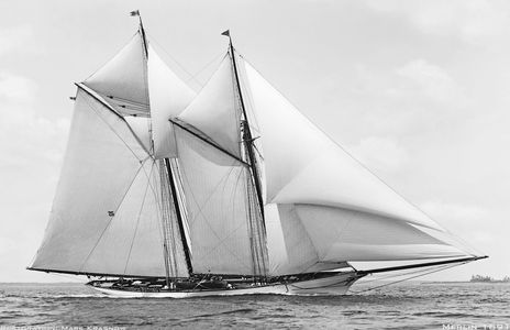 Merlin 1891 - Vintage Restored Sailing Art Print