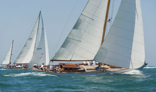 The Blue Peter and Rugosa NY40 at the Opera House Cup 2015 in Nantucket, MA
