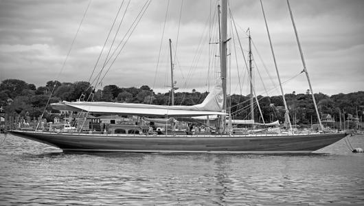 Classic Yacht Sophie B&W art print