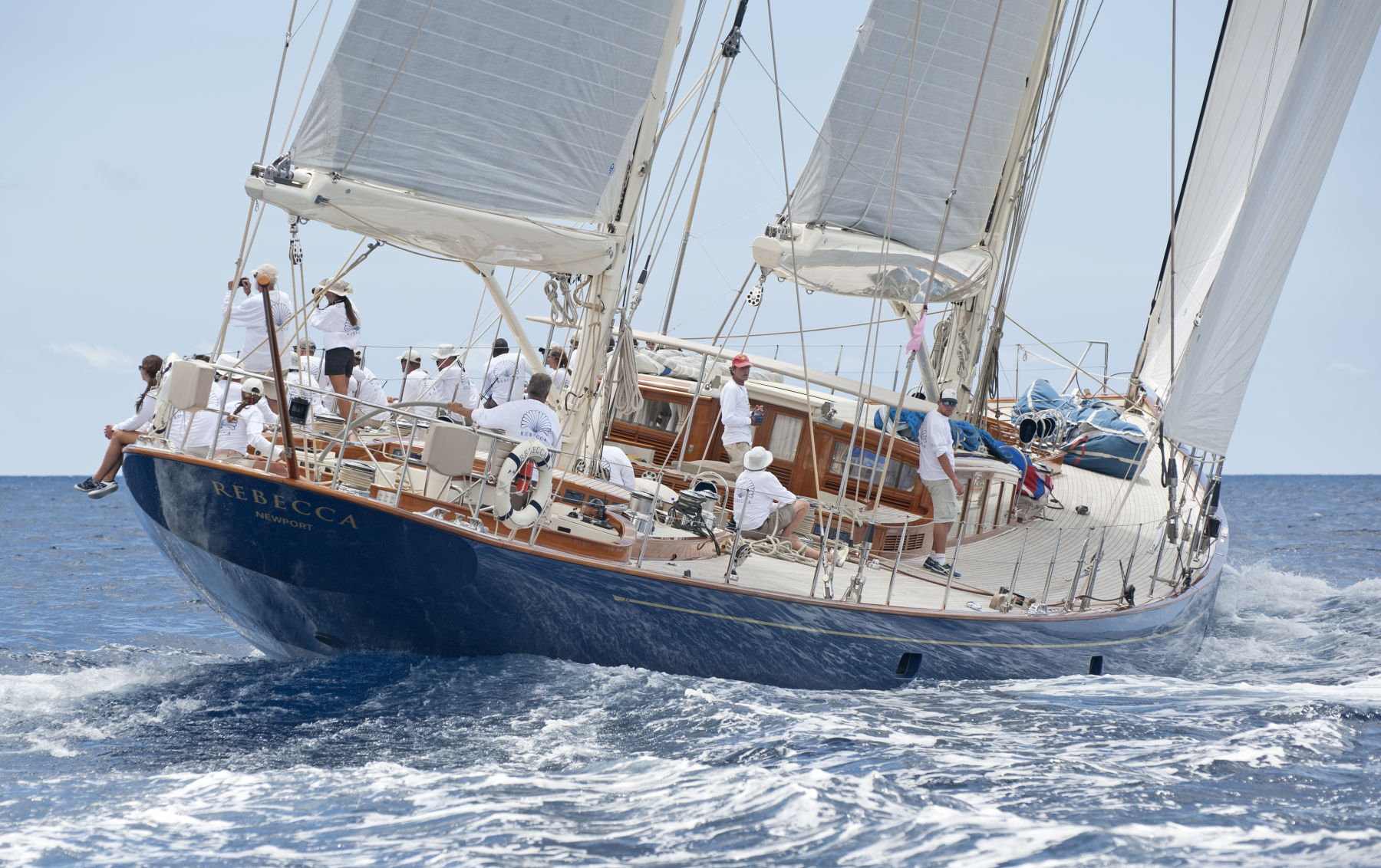 Superyacht Rebecca at The Antigua Classic Yacht Regatta 2016