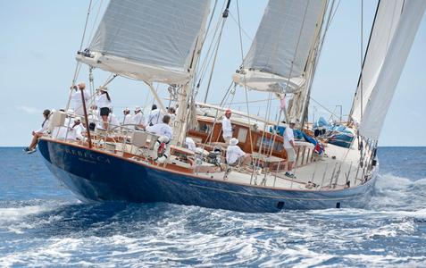 Superyacht Rebecca at The Antigua Classic Yacht Regatta 2016