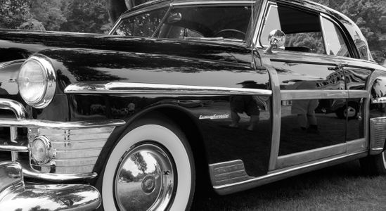 Chrysler Town & Country black & white art print
