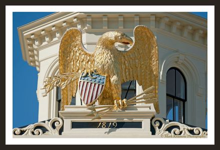 Customs House Eagle in Salem, MA 1819