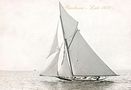 Vintage Restored Sailing Art Print - Barbara Late 1800s
