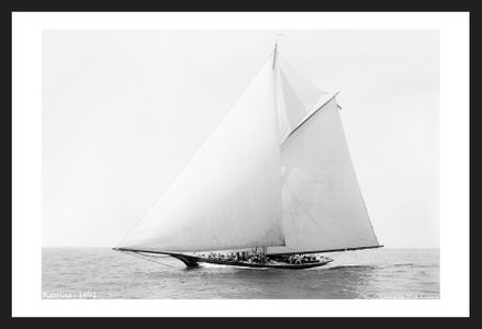 Historic Sailing Art Print Restorations - Katrina - 1892