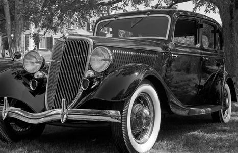 Vintage Ford Classic black & white photography art print