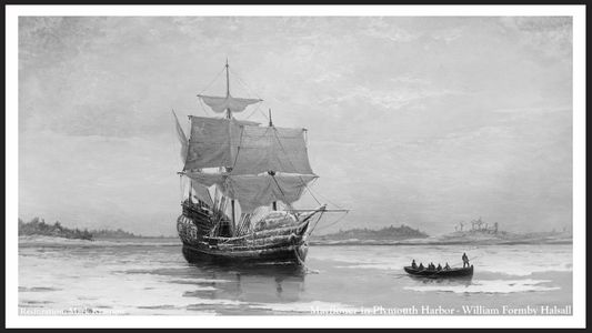 The Mayflower in Plymouth Harbor - William Formby Halsall Early1900's