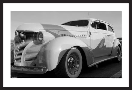 classic car black & white photography art print