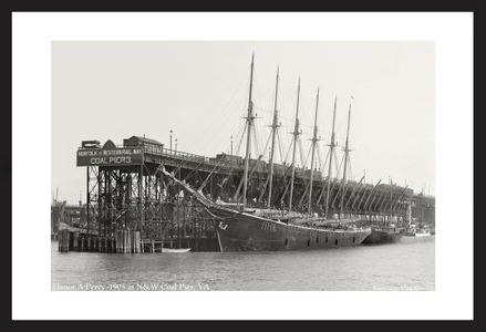 Vintage Sailing restoration art prints - Elanor A. Perry - 1905