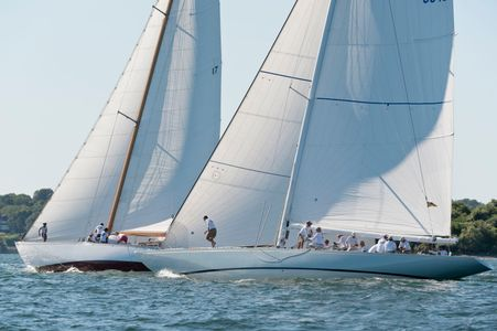 12 Metre Yacht Columbia and The Blue Peter at the Panerai Museum of Yachting - IYRS Regatta in Newport, RI