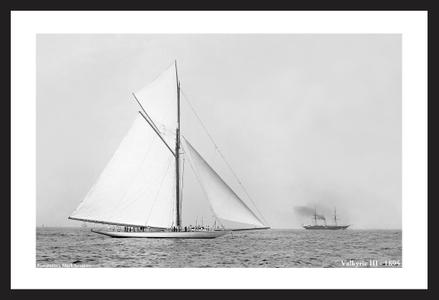 America's Cup historic sailing art print restorations - Valkyrie III - 1895