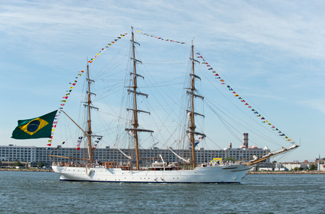 Schooner Cisne Branco of Brazil at Parade of Sail Boston