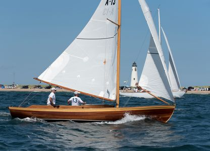 Alerion Myth Passing  Great Point Light in Nantucket, MA