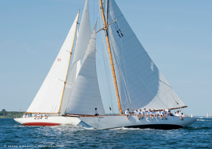 Marilee and Sonny at the Museum of Yachting - IYRS Classic Regatta, in Newport, RI