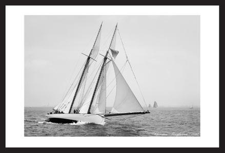 America's Cup Schooner Mayflower - 1890  - Historic sailing photography art print restoration