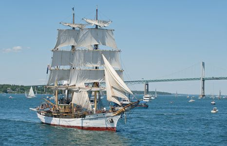 Schooner Picton Castle at Parade of Sail in Newport RI