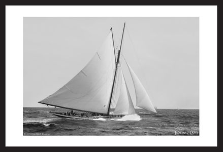 Historic sailing photograph art print restoration -Jubilee 1893