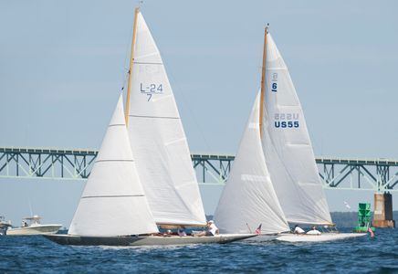 Leaf and Lucie at the Museum of Yachting - IYRS Panerai Regatta in, Newport, RI