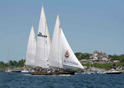 Spirit of Bermuda at the Newport to Bermuda Start 2016