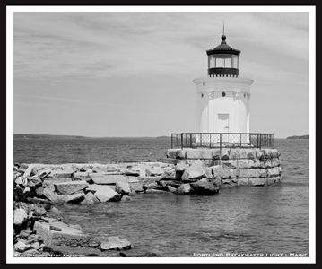 Portland Breakwater Lighthouse in Maine