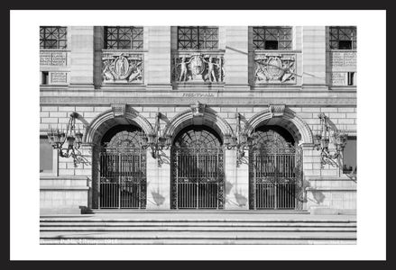 Boston Public Library in 1915 - historic art print restoration